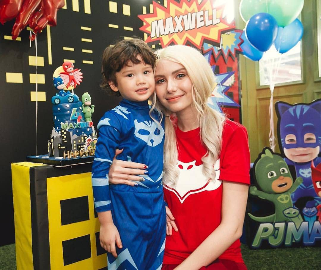 Mike Angelo đăng loạt ảnh tổ chức sinh nhật cho con trai 4 tuổi Maxwell (1)