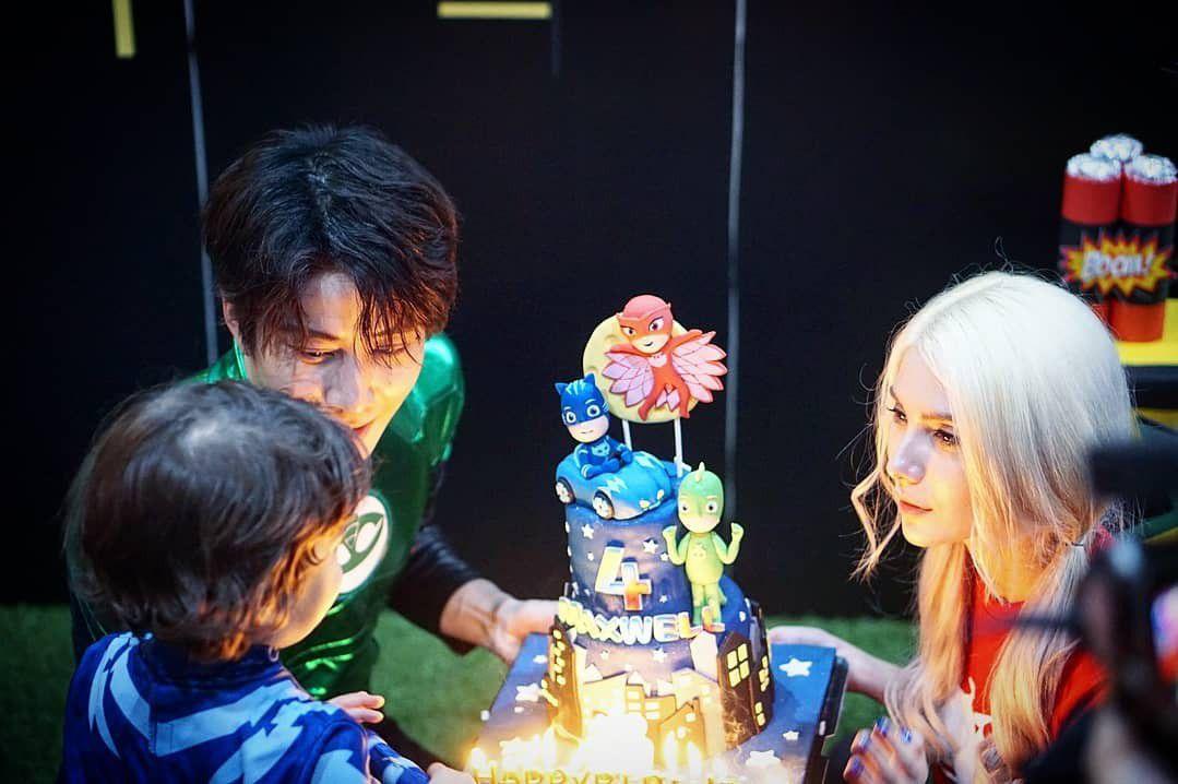 Mike Angelo đăng loạt ảnh tổ chức sinh nhật cho con trai 4 tuổi Maxwell (3)