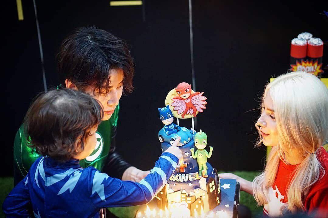 Mike Angelo đăng loạt ảnh tổ chức sinh nhật cho con trai 4 tuổi Maxwell (5)